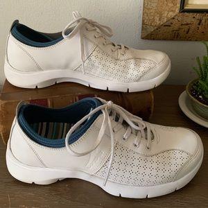 Dansko Elise White Athletic Tennis Shoes Sz 8.5 39